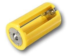 Adaptador Para Converter três pilhas Pequenas AA, Associadas em Paralelo, Para uma Pilha D.