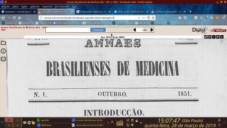 Annaes Brasilienses de Medicina.