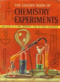 Capa de Um Antigo Livro de Experimentos de Química, para Crianças, dos Anos 60.