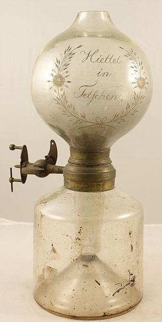 Um dos Modelos Comerciais de Lâmpada de Dobereiner, de Fabricação Alemã.
