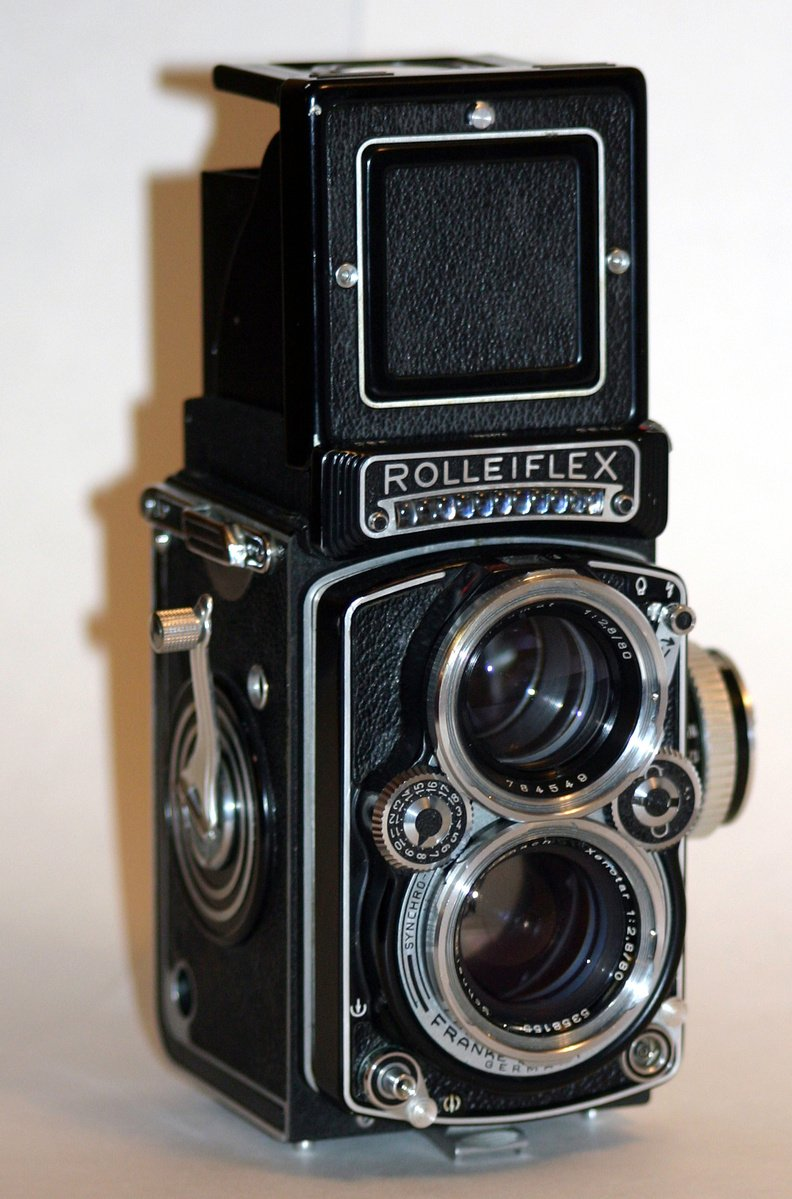 Antiga Câmera Ótica, Analógica. Rolleiflex , de Fabricação Alemã. Anos 50.